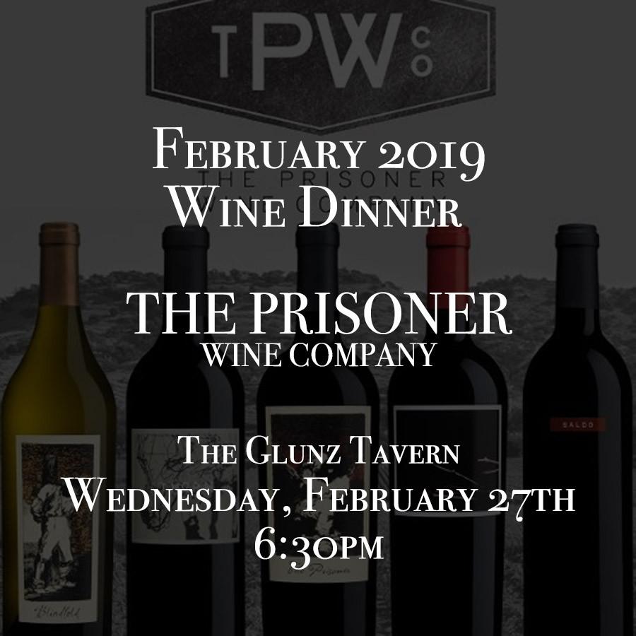 February Wine Dinner: The Prisoner Wine Company