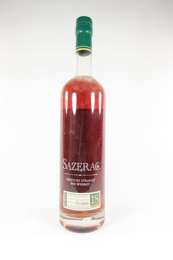 Sazerac 18 Years Old Kentucky Straight Rye Whiskey