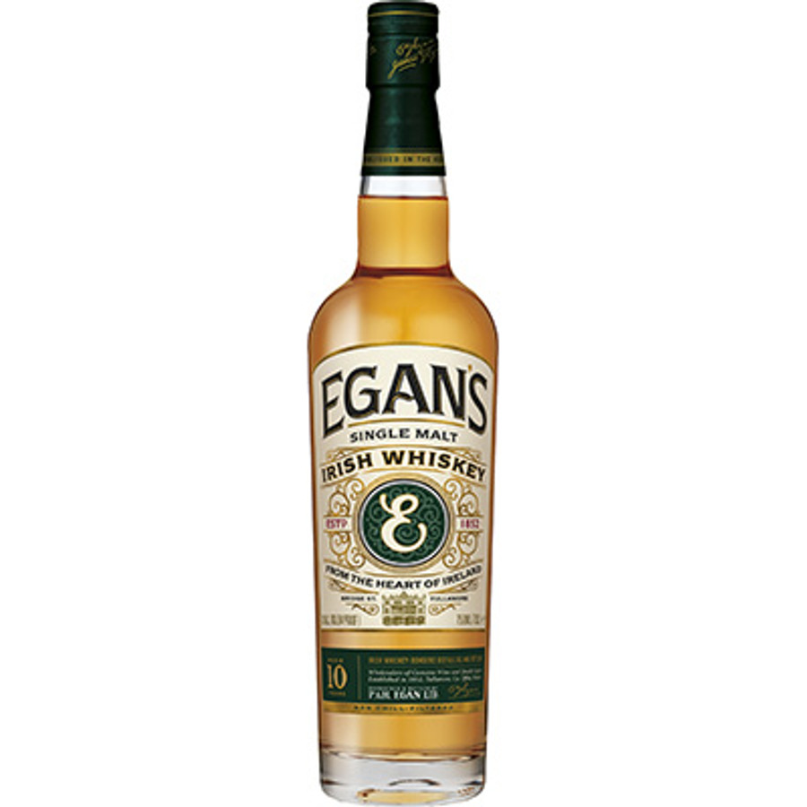 Egans Single Malt Irish Whiskey 10 Years OId