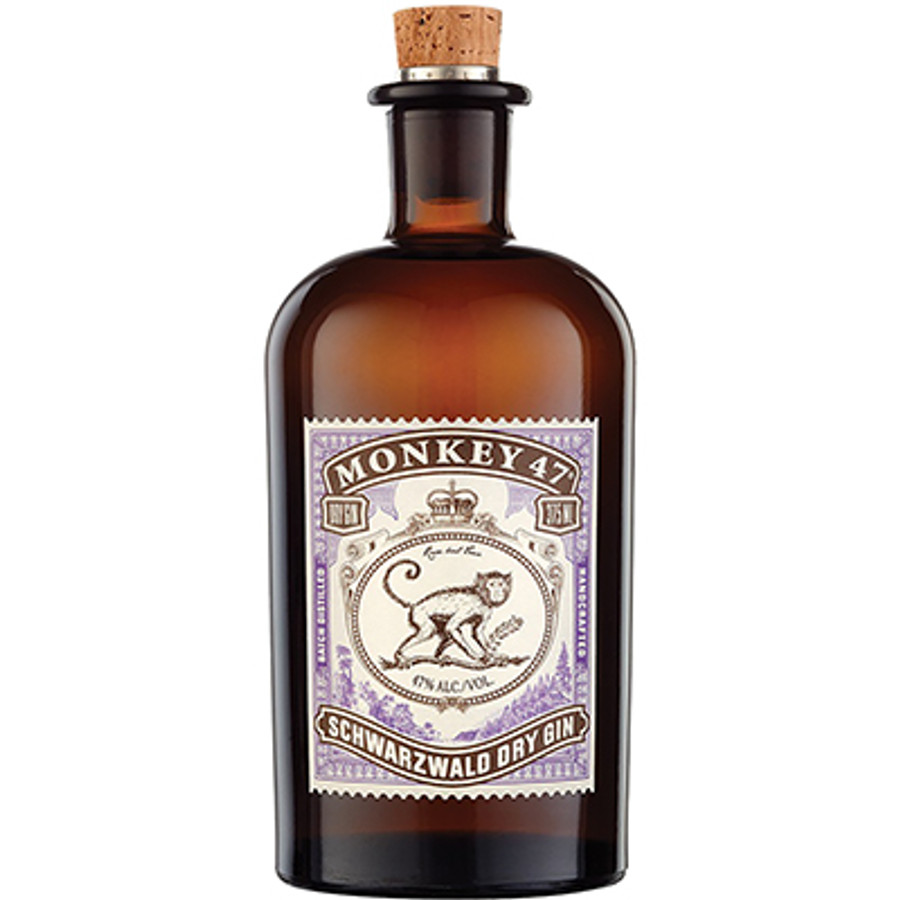 Black Forest Distillers Monkey 47 Schwarzwald Handcrafted Dry Gin 375ml