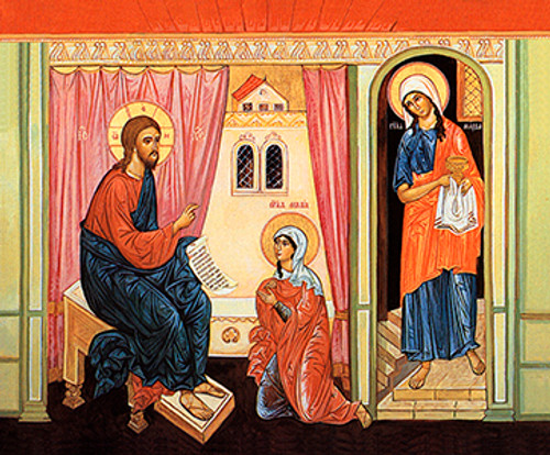 Image result for icon Martha and Mary
