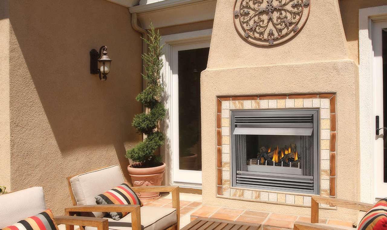 Napoleon Gss36 Riverside Outdoor Gas Fireplace Stainless Steel