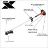 ECHO SRM-2620T X-Series 25.4cc 2-Stroke Pro Torque Commercial Straight Shaft String Trimmer Image 2