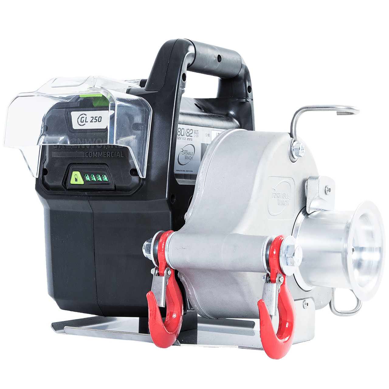 Greenworks 82W1KT 82V 2200 lb Max Pull Portable Battery-Powered Winch w/ 4Ah Battery & Charger Image
