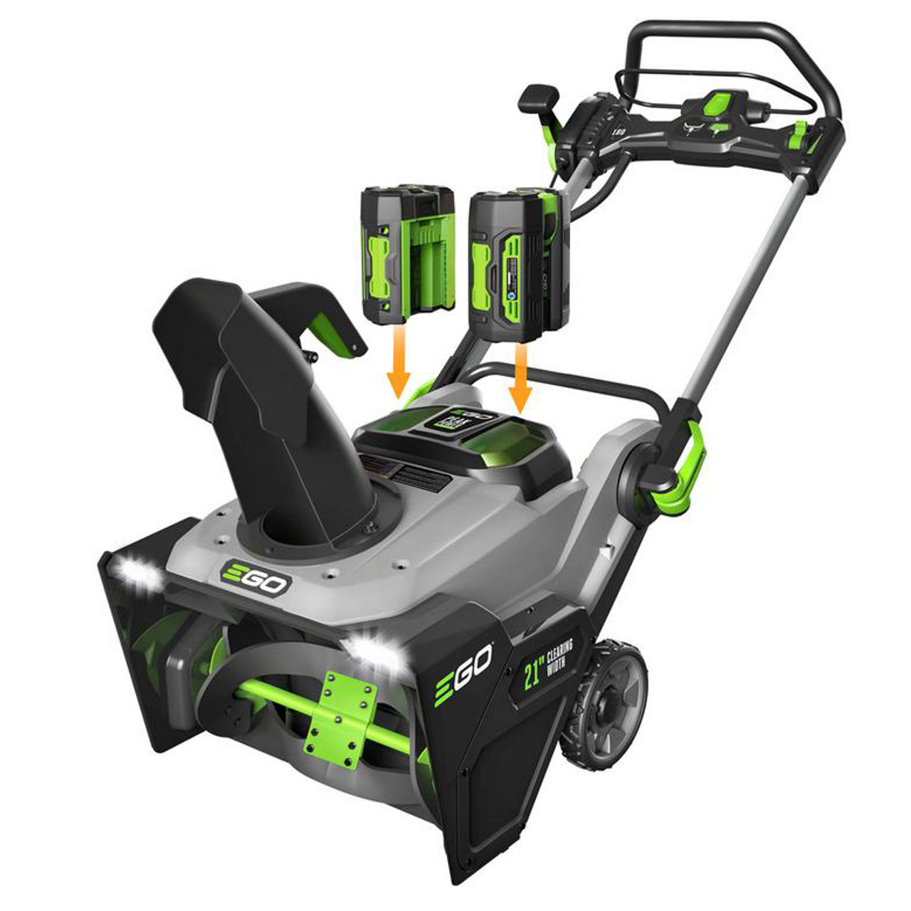 """EGO SNT2103 21"""" Electric Snowblower Kit w/ (2) 7.5Ah Batteries & 550W Rapid Charger Image 2"""