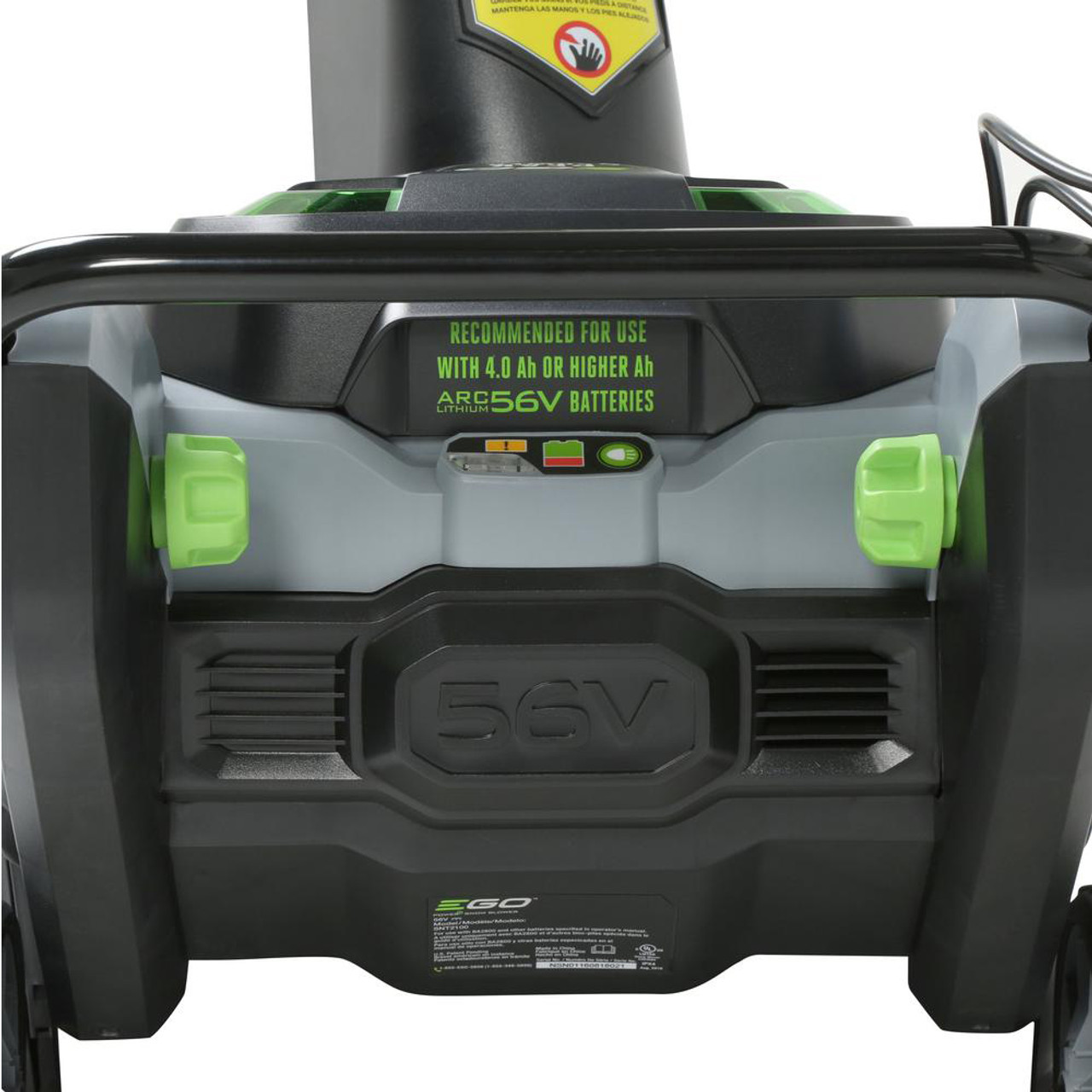 """EGO SNT2103 21"""" Electric Snowblower Kit w/ (2) 7.5Ah Batteries & 550W Rapid Charger Image 5"""