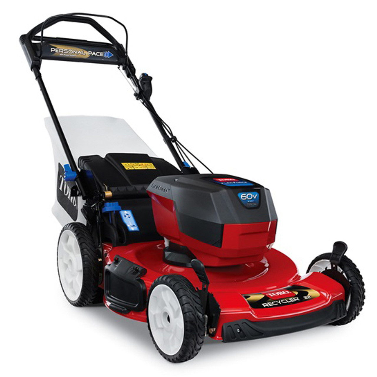 "Toro 20363 Recycler® 22"" Self-Propelled 60V Battery-Powered Walk Behind Lawn Mower w/ 6.0Ah Battery Image"