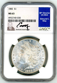 1882 Morgan Dollar MS63 NGC Moy