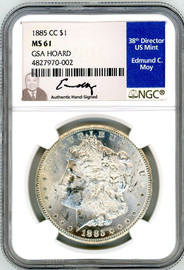 1885 CC Morgan Dollar MS61 NGC GSA Hoard Moy