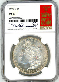 1900 O Morgan Dollar MS63 NGC K. Bressett