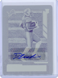 2020 Panini Playbook D'Andre Swift Detroit Lions Autograph Rookie Print Plate 1/1