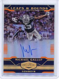 2020 Panini Leaps & Bounds Michael Gallup Dallas Cowboys Autograph 42/75