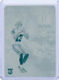 2020 Panini Illusions Michael Gallup Michael Irvin Dallas Cowboys Printing Plate 1/1