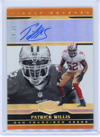 2020 Panini Highly Revered Patrick Willis San Francisco 49ers Autograph 20/25