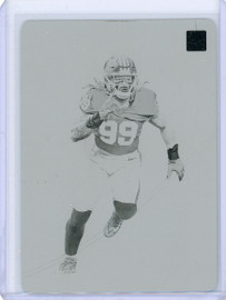 2020 Panini Red Hot Rookies Chase Young Washington Football Printing Plate 1/1