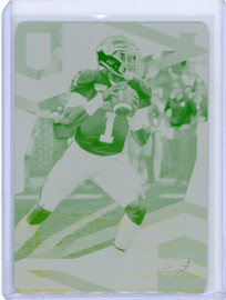 2020 Panini Donruss Elite Rookies Jalen Hurts Philadelphia Eagles Printing Plate 1/1