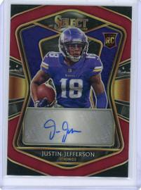 2020 Panini Select Justin Jefferson Minnesota Vikings Autograph Rookie Card 57/60