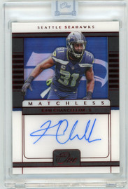 2020 Panini One Matchless Kam Chancellor Seattle Seahawks Autograph 2/4