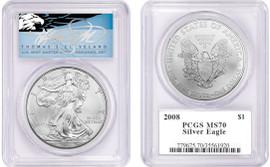 2008 ASE MS70 PCGS T. Cleveland blue eagle