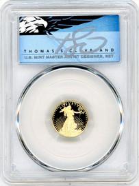 2021-W $5 Proof Gold Eagle PR69 Type-1 PCGS T Cleveland Blue Eagle