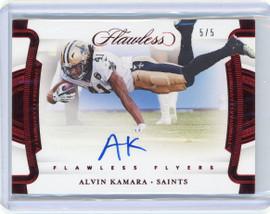 2020 Panini Flawless Flyers Alvin Kamara New Orleans Saints Autograph 5/5