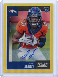 2020 Panini Chronicles Score Jerry Jeudy Denver Broncos Rookie Autograph 36/50