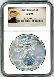 2014 ASE MS70 NGC eagle label