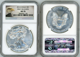 2014 ASE MS70 NGC First Releases eagle label