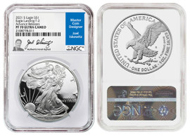 2021 S Proof ASE PF70 NGC Ultra Cameo Eagle Landing T-2 Advanced Releases One of 14000 Advance Rel. Joel Iskowitz