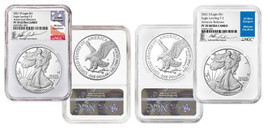 2021 W & S ASE 2-Piece Set, Eagle Landing T-2 PF70 NGC Ultra Cameo Advanced Releases M. Gaudioso
