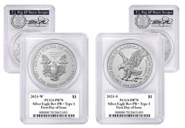 2021 W&S ASE 2-Coin Designer Set Reverse PR70 PCGS FDOI T. Cleveland wreath