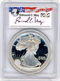 1990-S ASE PR69DCAM PCGS Ed Moy r/w/b label