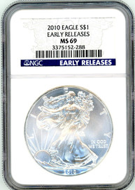 2010 ASE MS69 NGC Early Releases blue label