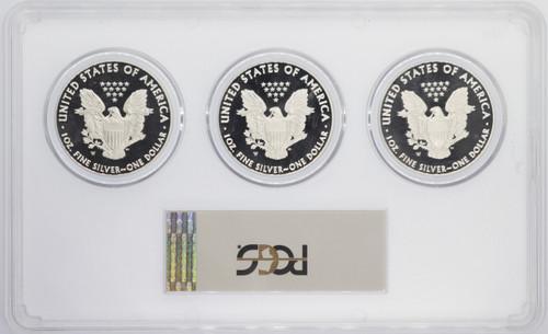 2017-W Proof ASE PR70 PCGS 3-coin slab DC, Denver, Phili 225th Anniv US Mint FDOI Flag First Strike Moy