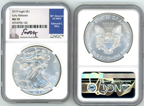2019 ASE MS70 NGC Early Releases Ed Moy signed
