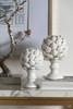 Ceramic Artichoke Statue Finials White, Set of 2