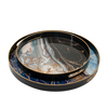Decorative Round Faux Marble Tray Set Of 2