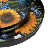 Sunflower Round Decorative Tray Set Of 2