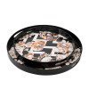 Floral Pattern Round Decorative Tray Set Of 2