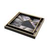Geometric Pattern Square Decorative Tray Set Of 2