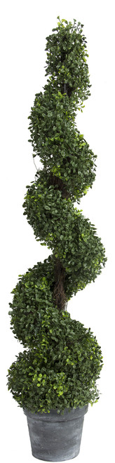 4ft Artificial Spiral Boxwood Topiary Tree