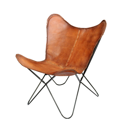 "Elite Butterfly Leather Chair 29""x29""x33"""