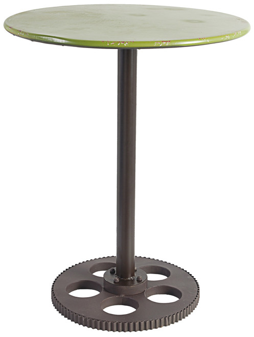 Metal Round Table Gear Design, Green