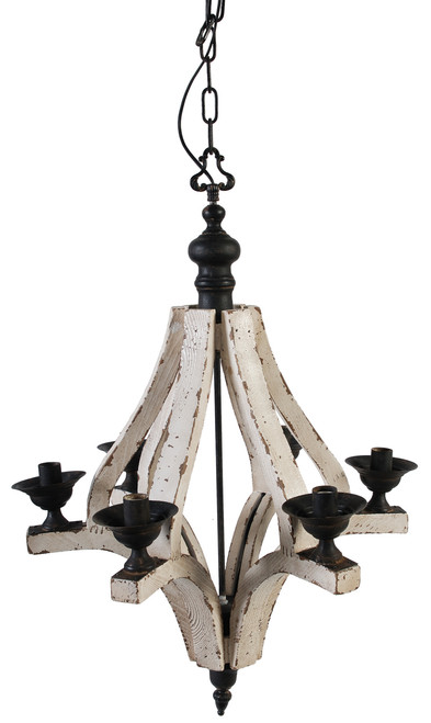 "A&B Home Wood And Metal Chandelier, 22.5""X32.3"" 35540"