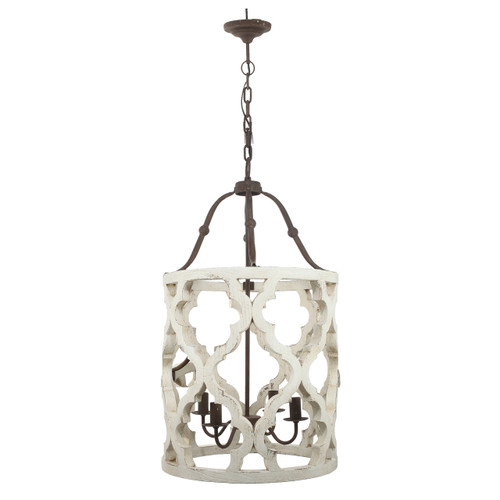 "Jolette Wood-Metal Chandelier 19""x33.5"""