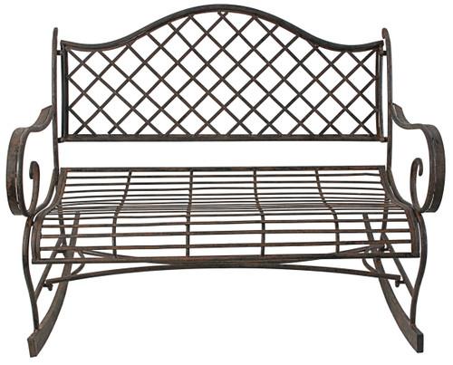 Metal Rocking Chair Love Seat Bench