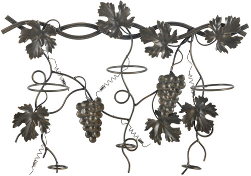 Metal Wall Wine Rack With Grapevine Design