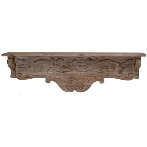 "Thayne Cratted Wall Shelf Fir Wood 32""x7""x10"""