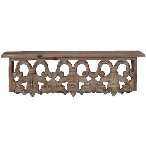 """Thayne Wall Shelf Fir Wood 24""""X6""""X7"""""""