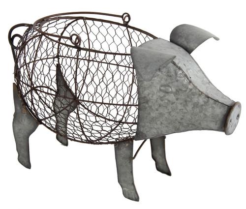Metal Wire Pig Basket